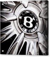 Bentley Wheel Emblem -0303ac Acrylic Print
