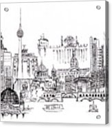 Berlin Medley Monochrome Acrylic Print