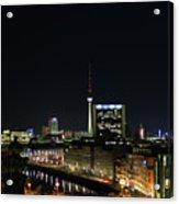 Berlin Night Landscape Acrylic Print
