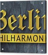 Berlin Philharmonic Acrylic Print