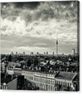 Berlin Skyline And Roofscape -black And White Acrylic Print