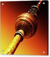 Berlin Television Tower - Berlin I Love You Acrylic Print