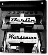 Berlin To Warsaw Frame 1  Acrylic Print