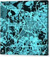 Berlin Traffic Abstract Blue Map Acrylic Print