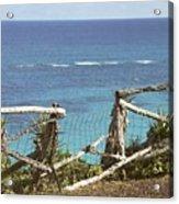 Bermuda Fence And Ocean Overlook Acrylic Print