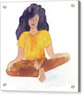 Berni Meditating Acrylic Print