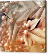 Berry And Leaf Brocade Acrylic Print