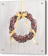 Berry Decorated Wreath Acrylic Print