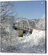 Bert White Bridge Acrylic Print
