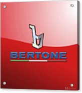 Bertone 3 D Badge On Red Acrylic Print