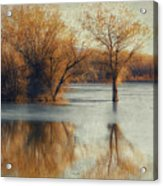 Beside Still Waters-color Acrylic Print