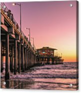 Beside The Pier By Mike-hope Acrylic Print