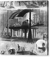 Bessemer Steel Manufacture. Six Acrylic Print by Everett