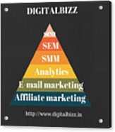 Best Digital Marketing Institute In Ameerpet Hyderabad Acrylic Print