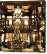 Best Western Plus Windsor Hotel Lobby - Christmas Acrylic Print