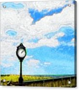 Bethany Beach Clock Acrylic Print