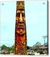 Bethany Beach Totem Acrylic Print