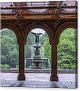 Bethesda Fountain  Acrylic Print