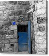 Bethlehem - Blue Old Door Acrylic Print