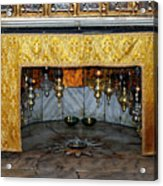 Bethlehem - Grotto Silver Star Acrylic Print