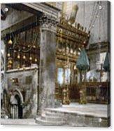 Bethlehem - Inside Nativity Church 1890 Acrylic Print
