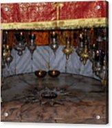 Bethlehem - Nativity Church - Silver Star Acrylic Print