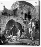 Bethlehem - Nativity Scene Year 1900 Acrylic Print
