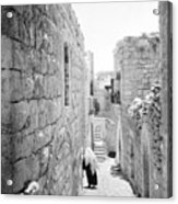 Bethlehem - Old Woman Walking 1933 Acrylic Print