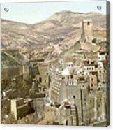 Bethlehem Mar Saba Monastery Acrylic Print