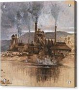 Bethlehem Steel Works In May 1881 Acrylic Print