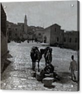 Bethlehem Street Scene 1911 Acrylic Print