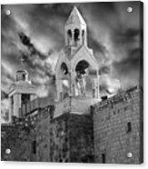 Bethlehem With Cloudy Sky Acrylic Print