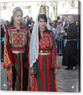 Bethlehemites In Traditional Dress Acrylic Print