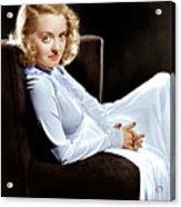 Bette Davis, Ca. Late 1930s Acrylic Print