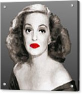 Bette Davis Draw Acrylic Print