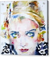 Bette Davis - Watercolor Portrait Acrylic Print