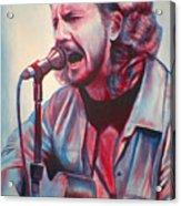 Betterman Eddie Vedder Acrylic Print by Derek Donnelly