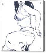 Bettie Page Harem Girl Acrylic Print