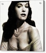Bettie Page, Pinup Model Acrylic Print