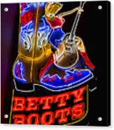 Betty Boots Acrylic Print