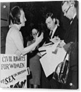 Betty Friedan, President Acrylic Print
