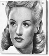 Betty Grable Acrylic Print