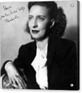 Betty Smith (1896-1972) Acrylic Print