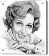 Betty White Acrylic Print