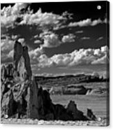 Between Monument Valley And Heaven  Acrylic Print