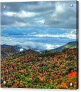 Between The Clouds Blue Ridge Parkway North Carolina Art Acrylic Print