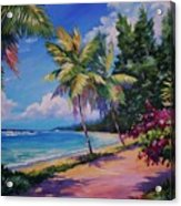 Between The Palms 20x16 Acrylic Print