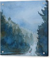Between The Showers On Hwy 101 Acrylic Print by Jenny Armitage