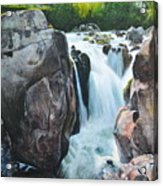 Betws-y-coed Waterfall In North Wales Acrylic Print