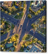 Beverly Hills Streets, Aerial View Acrylic Print
